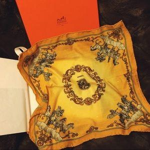 hermès • rare cosmos cashmere silk twilly scarf